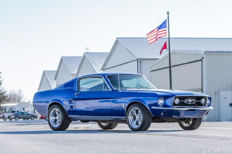 Insane Looking Blue Boss 1967 Ford Mustang Fastback Will ...  1967 Ford Mustang Fastback Blue
